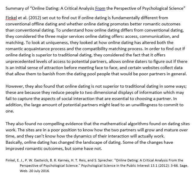 psychological dating