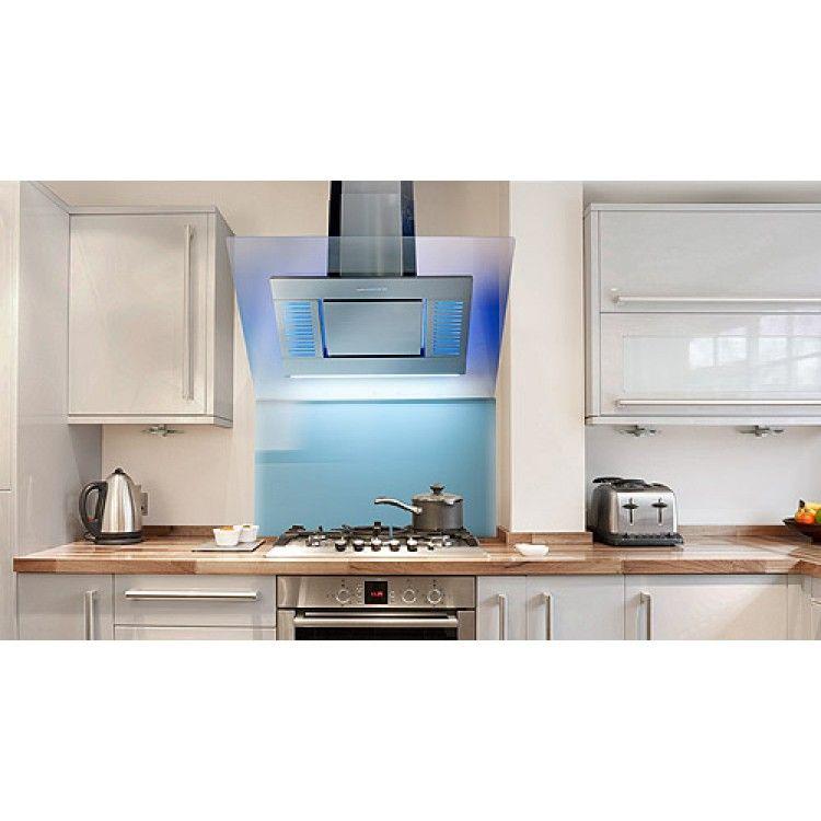 90cm angled designer cooker hood stainless steel kitchen. Black Bedroom Furniture Sets. Home Design Ideas