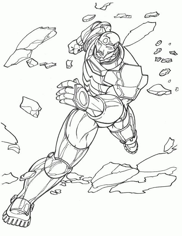 Iron Man Malvorlage