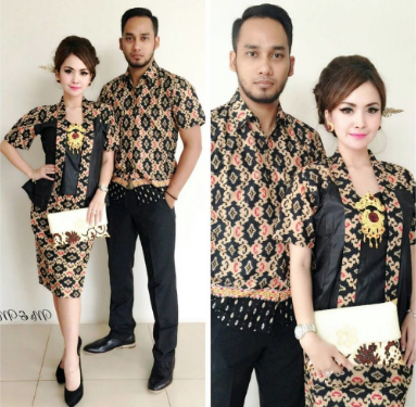 Inpirasi baju batik couple  sarimbit untuk berbagai momen
