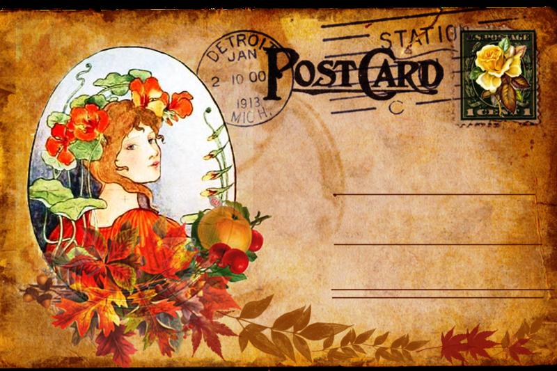 Картинка открытки почтовой, картинки осени