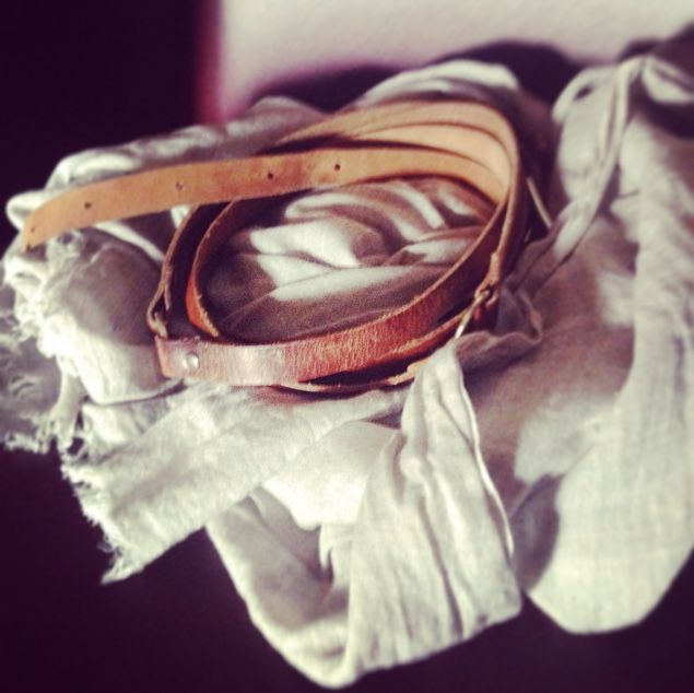 Vintage genuine leather belt (my mom's belt actually) ^^