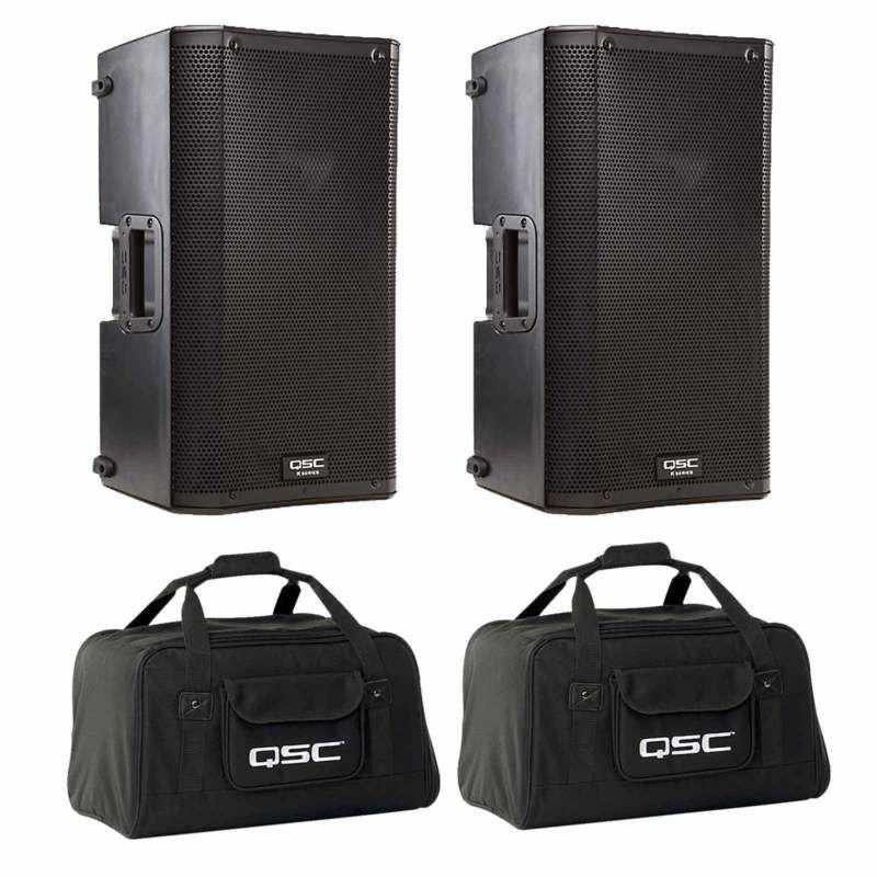 Qsc K10 10 Active Powered 2 Way 1000 W Dj Pa Speaker Pair K10 Tote Bag Pair Pair Tote Speaker Powered Active Pa Speakers Bags Camera Bag