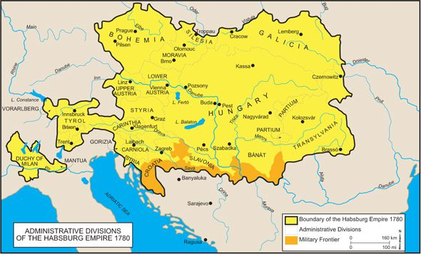 Administrative Divisions Of The Habsburg Empire 1780 Ungarn
