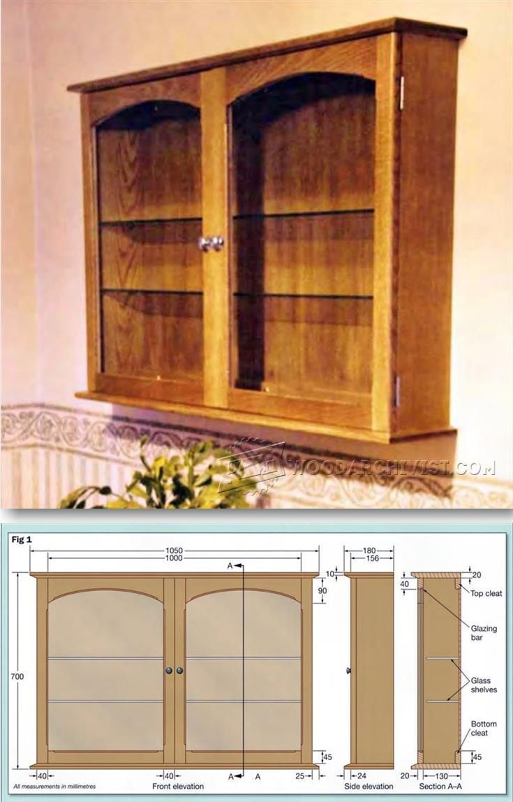 Charmant Display Cabinet Plans   Furniture Plans And Projects | WoodArchivist.com