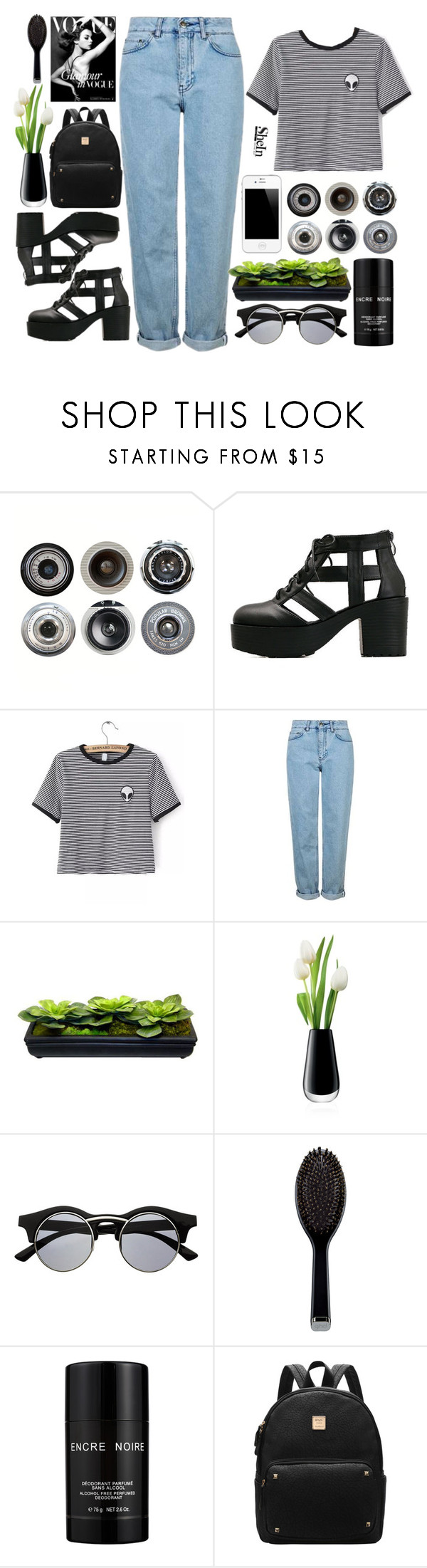 """""""#SheIn"""" by credentovideos ❤ liked on Polyvore featuring Ella Doran, WithChic, Topshop, LSA International, Retrò, GHD and Lalique"""