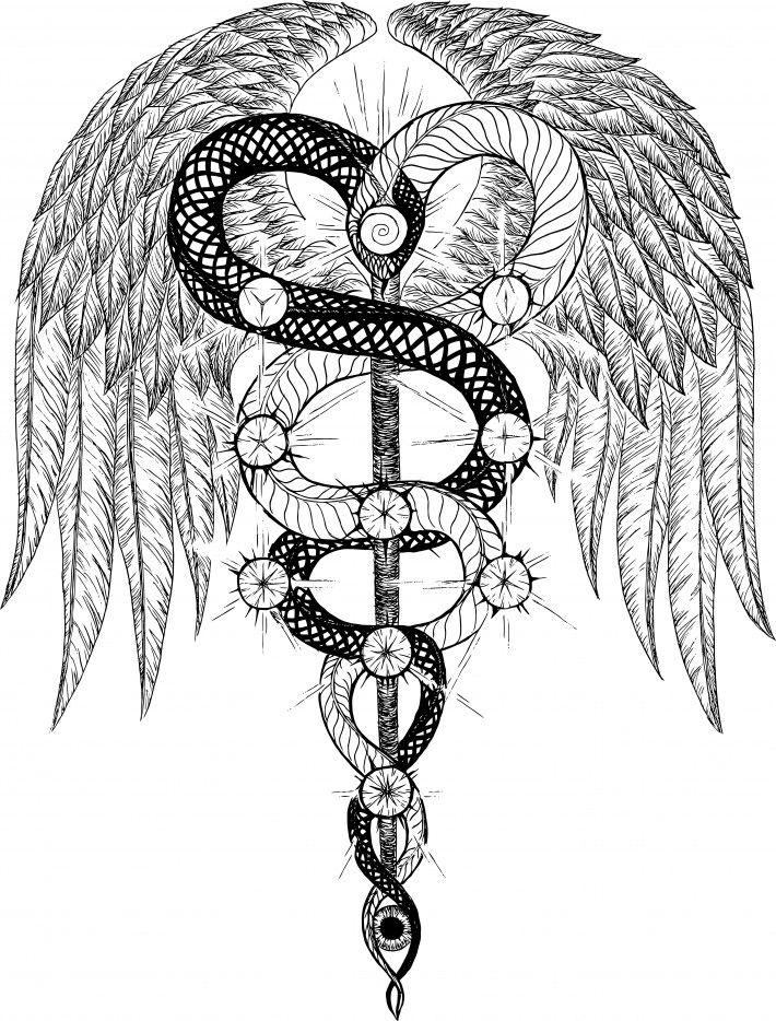 Egyptian Caduceus Google Search Tattoo Pinterest Egyptian