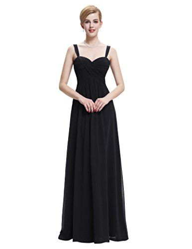 Sleeveless Classy Black Chiffon Ruffles Semi Formal Prom Dress Size