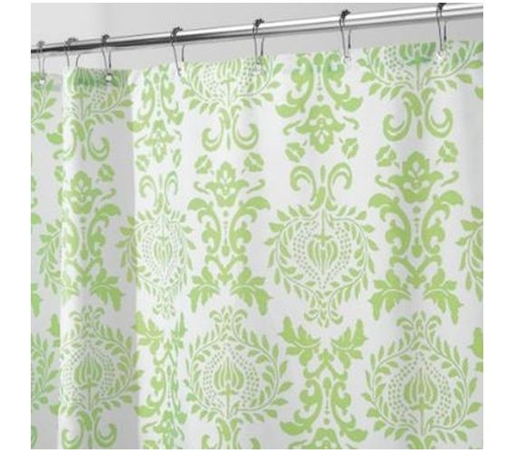 Damask Lime Shower Curtain | Damasks, Dorm necessities and Limes