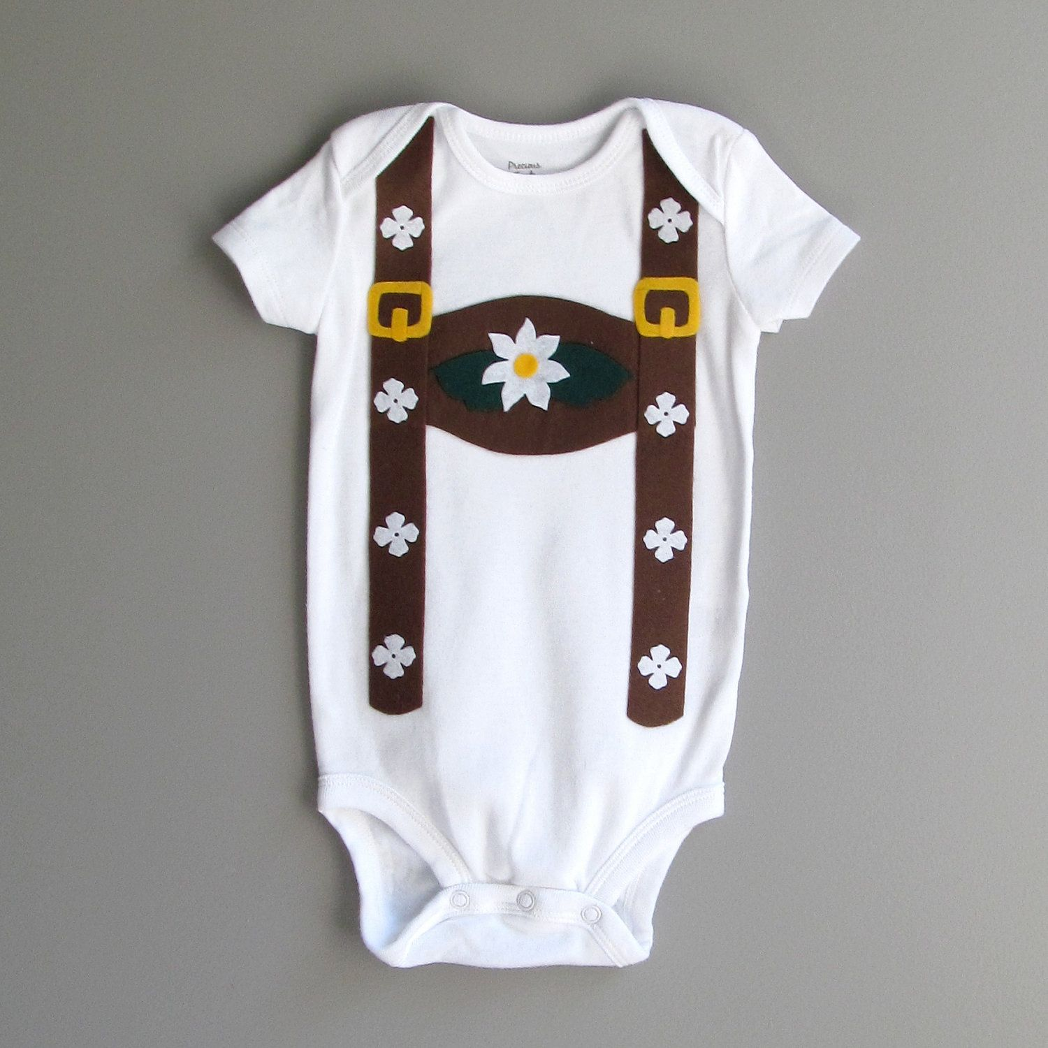 b1e84e3bf Pretty sure my nearly 1/2 German daughter needs a lederhosen onesie to  offset her St. Patty's Day garb :)
