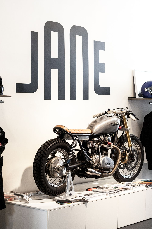 Jane motorcycles coffee shop brooklyn city woman coffee