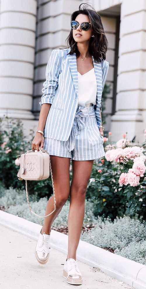 Summer Suit @roressclothes closet ideas women fashion outfit clothing  style apparel