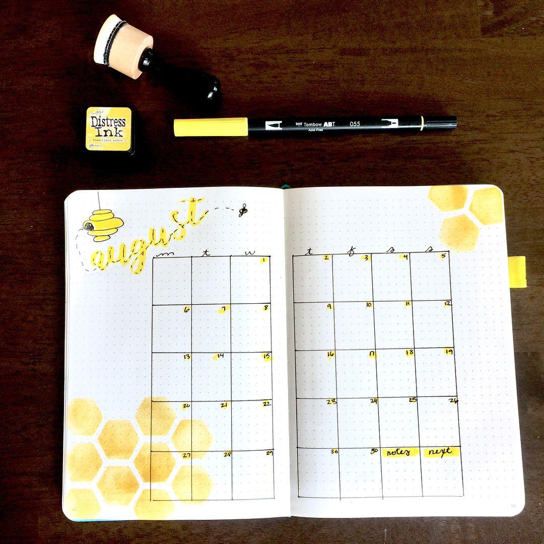 Honeycomb Monthly for Bullet Journals. moxiedori bulletjournal ...