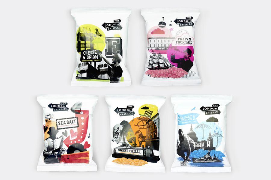 Packaging for London Crisp Co. designed by B&B Studio