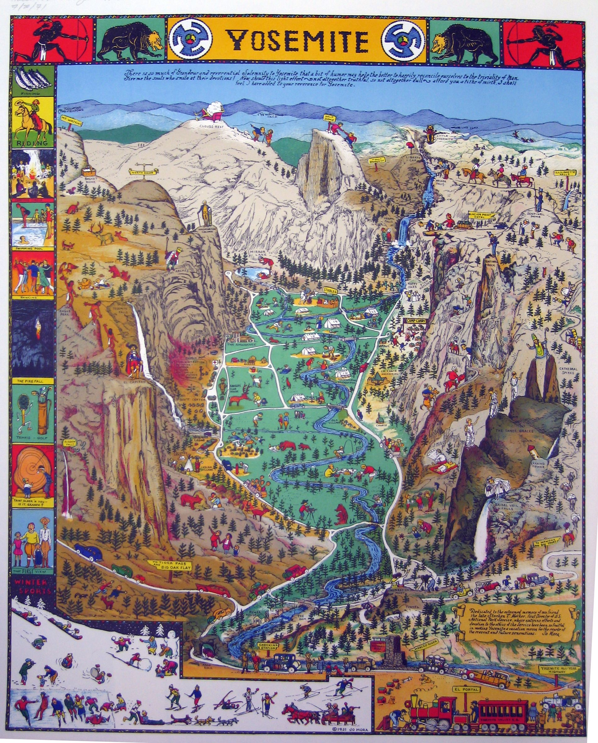 yosemite maps – Yosemite Tourist Map