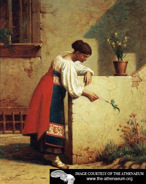 Italian Peasant Woman  Virgil Macey Williams - 1868