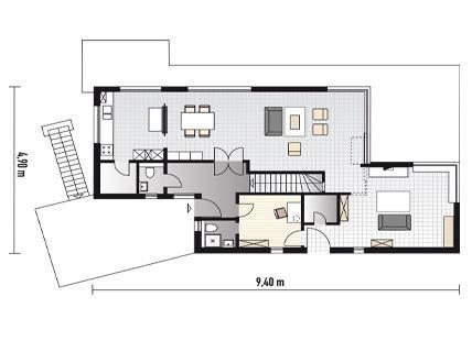 fertighaus mit flachdach planmaterial fertighaus am hang haus. Black Bedroom Furniture Sets. Home Design Ideas