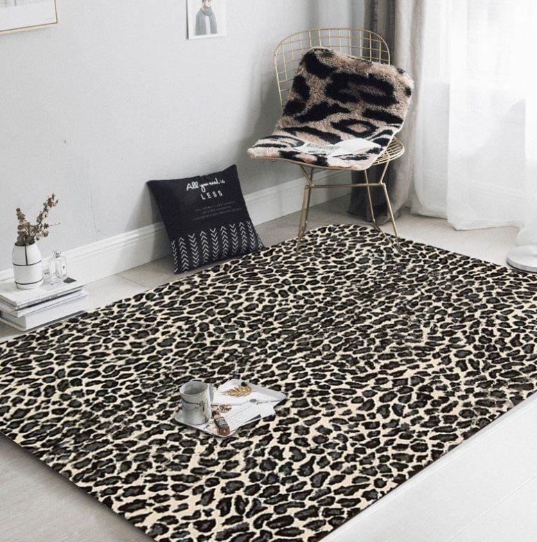 Leopard Cl300929mdr Rug Rectangular Indoor Outdoor Area Carpet Flat Weaven Non Slip Living Room Carpet Floor Rugs Bedroom Living Room Modern