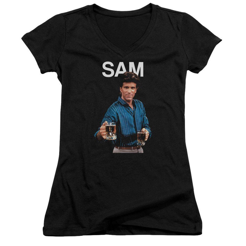 CHEERS/SAM - JUNIOR V-NECK - BLACK -