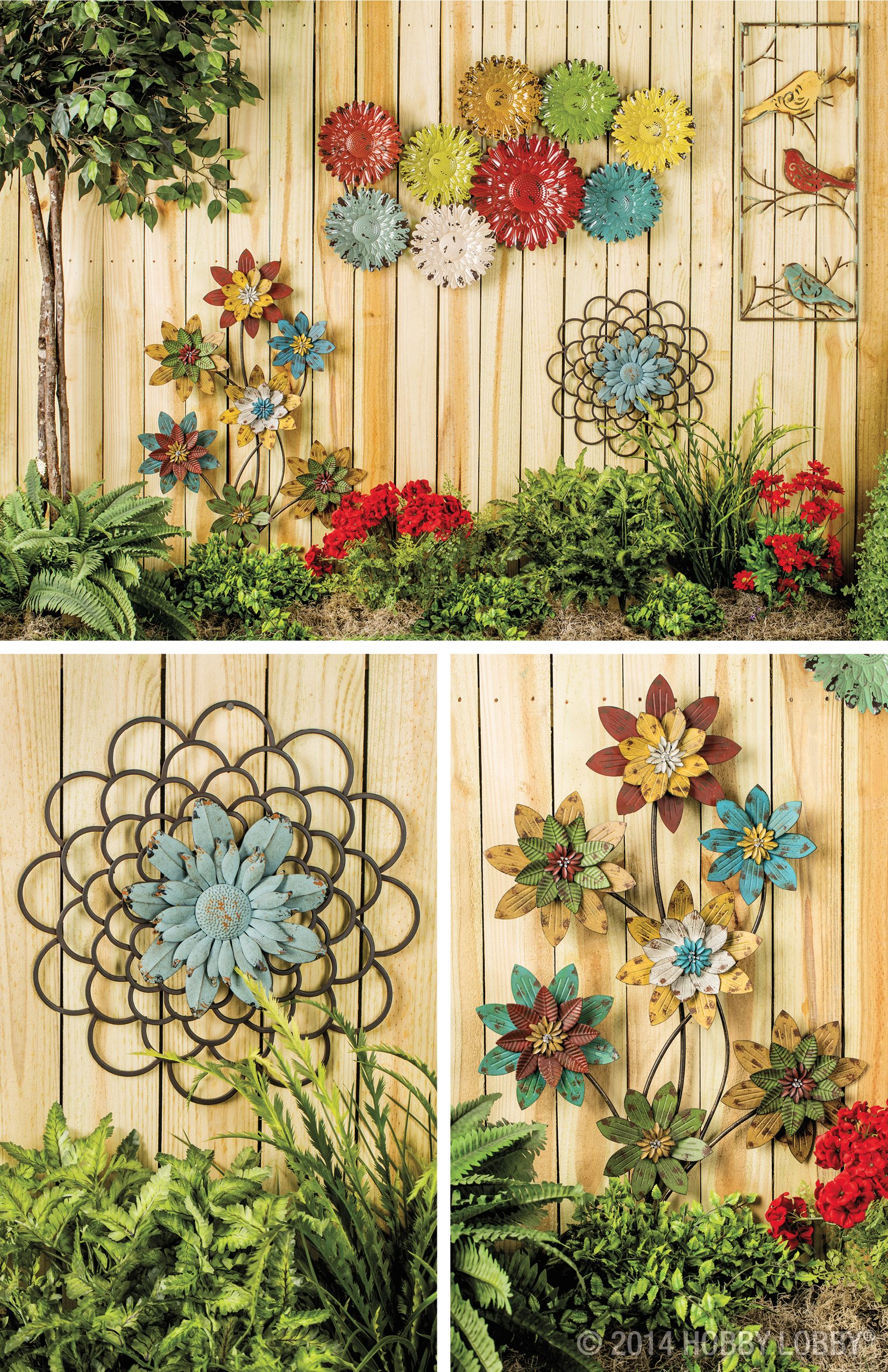 garden wall decoration ideas. Spring Shop  Seasonal Hobby Lobby Floral Wall ArtMetal Flower DecorGarden Ideas Your home decor will blossom with an eye catching array of floral
