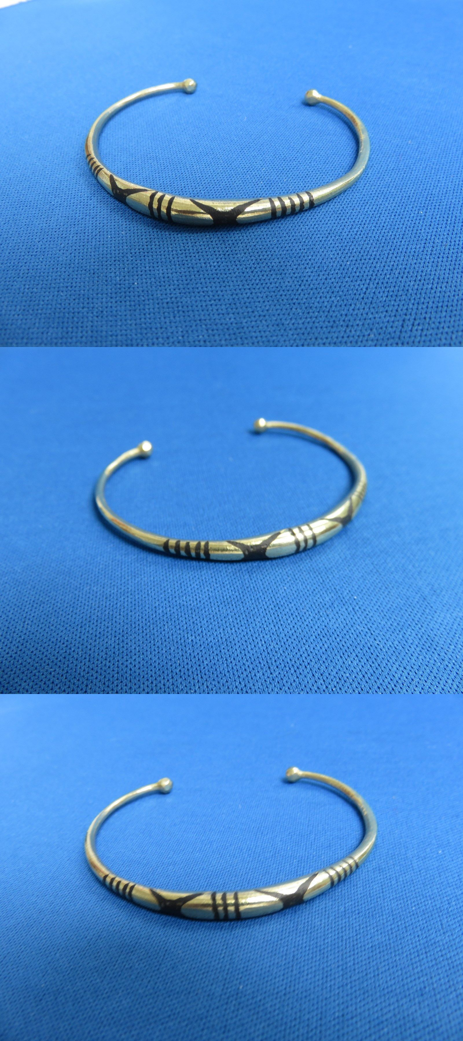 7dd82e24b Bracelets 98480: Niger African Ethnic Gold Tone Jewelry Tuareg Silver Round  Etched Bracelet L -> BUY IT NOW ONLY: $14.41 on eBay!