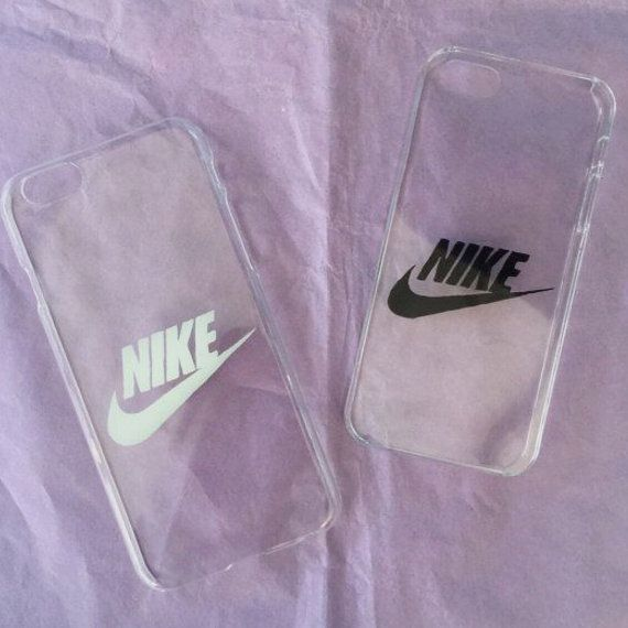 Très Housse de téléphone transparent dur avec logo Nike par ZocanByZoe  MF79