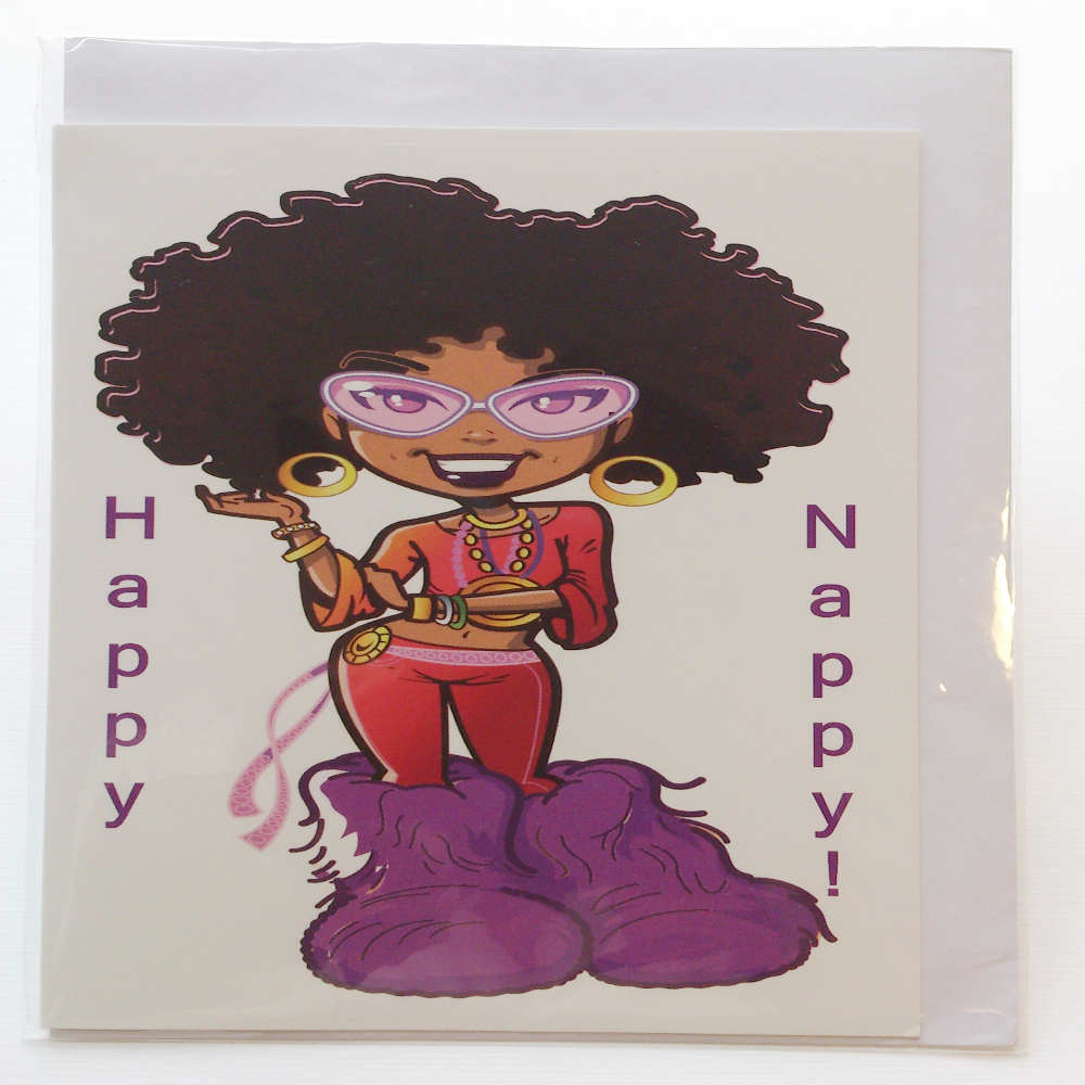 Nappy afro girl greeting card in hausa igbo somali swahili nappy afro girl greeting card in hausa igbo somali swahili yoruba languages kristyandbryce Gallery