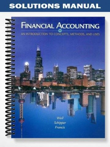 Solutions manual for financial accounting an introduction to solutions manual financial accounting an introduction concepts methods uses 14th edition weil at https fandeluxe Images