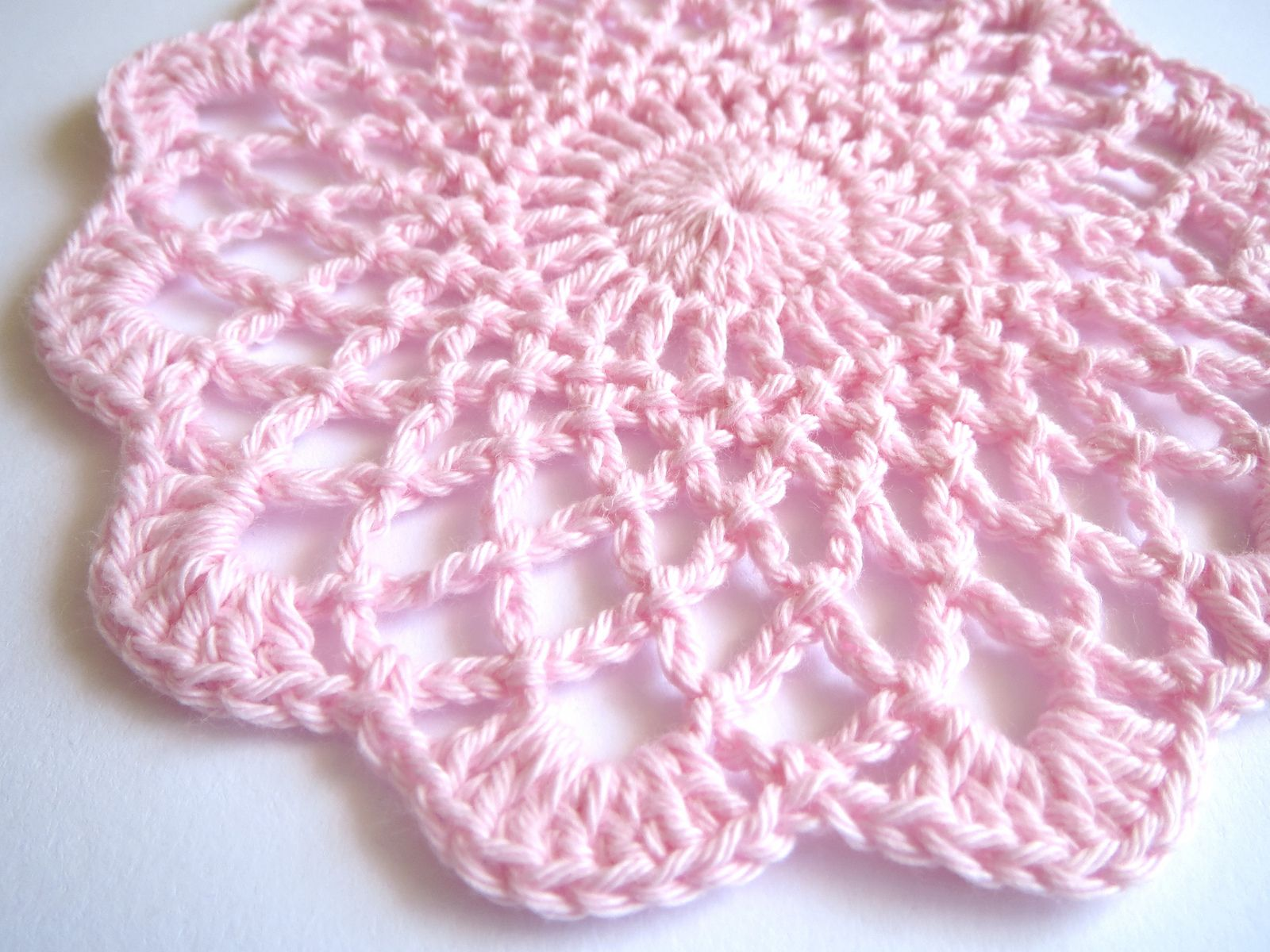 Ravelry: Shaded Pinks Doily by Maggie Weldon | crochet | Pinterest