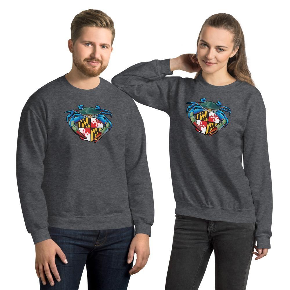 Blue Crab Maryland Crest, Unisex Sweatshirt