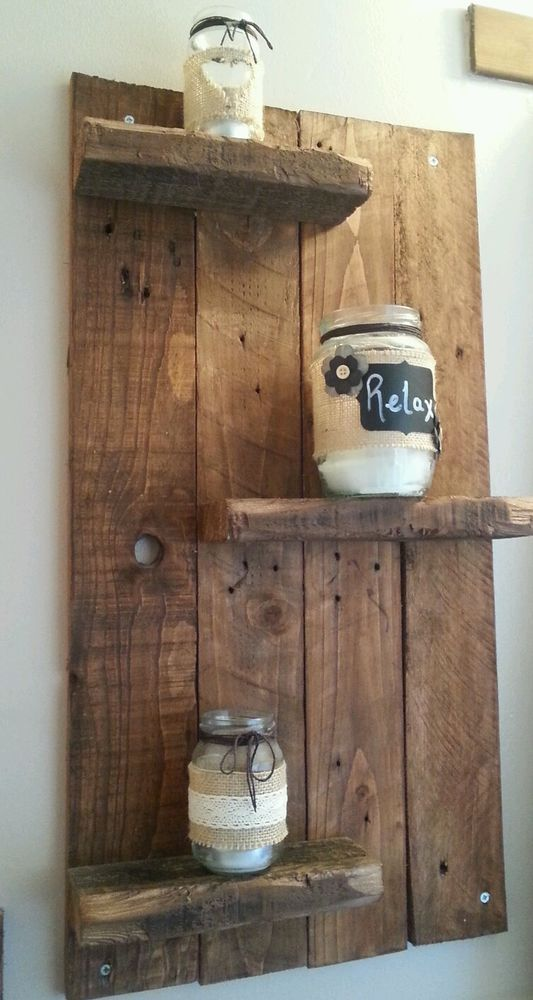 Rustic Wall Shelf from Reclaimed Wood