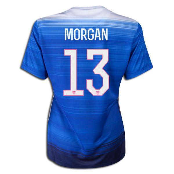 2015 FIFA Women's World Cup USA Alex Morgan 13 Women Away Soccer Jersey