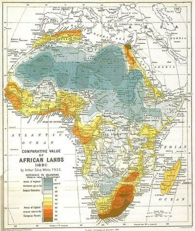 Comparative Value of African Land 1891 | ♖Map Quest♖ | Map