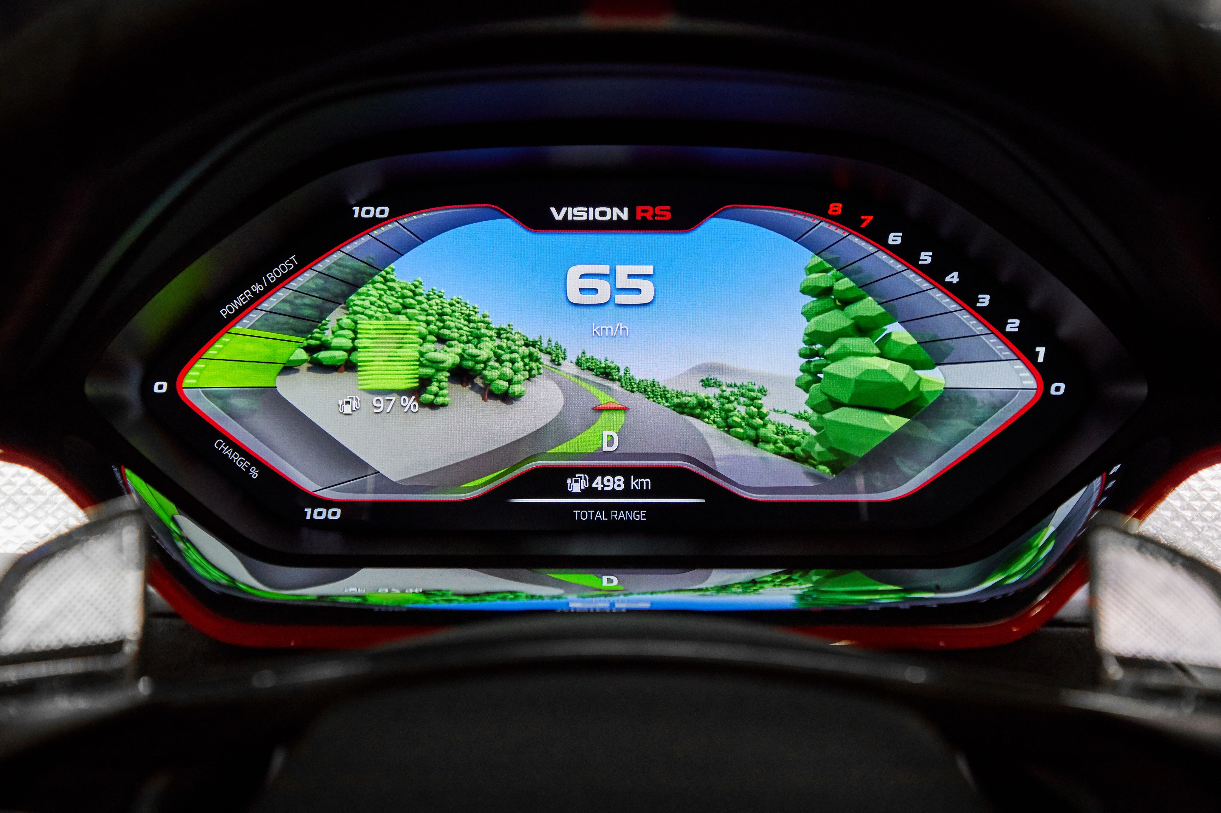 Skoda Vision RS Dashboard