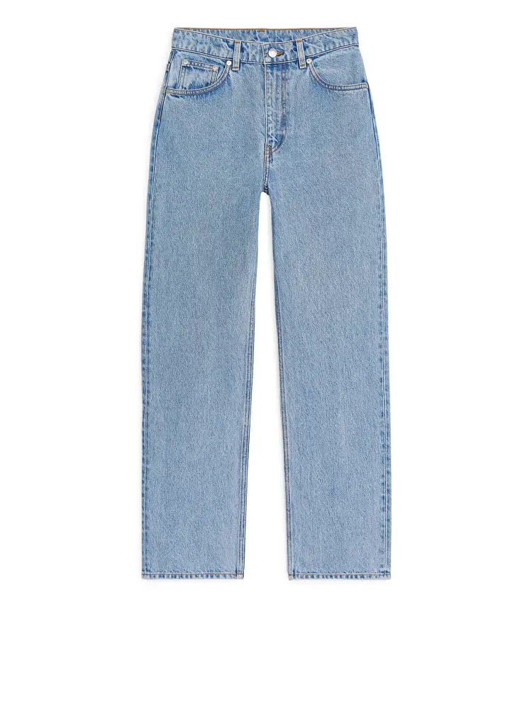 Straight Cropped Jeans Light Blue Jeans Arket Gb In 2020 Straight Crop Jeans Light Blue Jeans Cropped Jeans