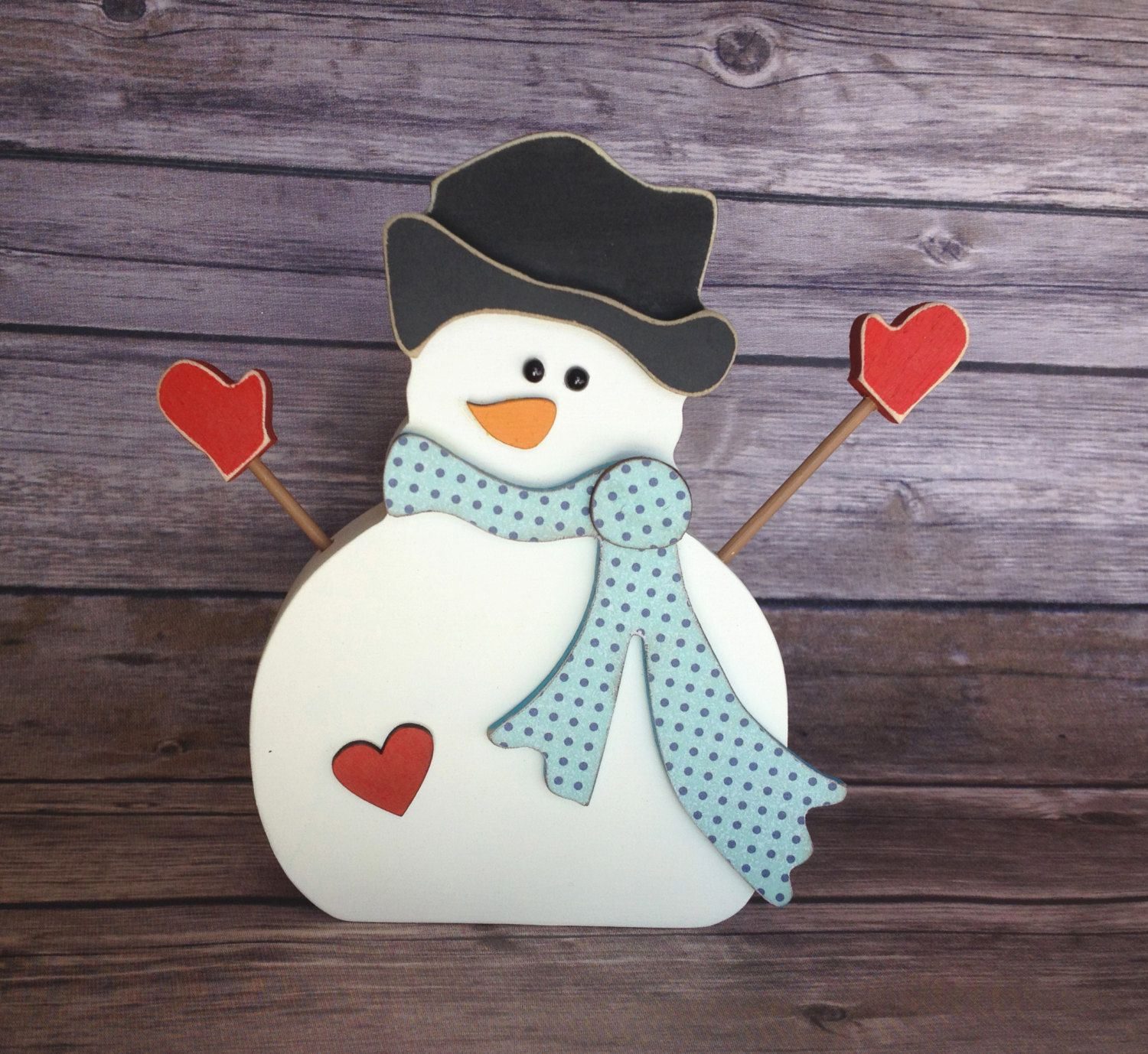 """January Snowman Wood Home Decor Kit - January Interchangeable """"O"""" by ScrapHappyPagesStore on Etsy"""