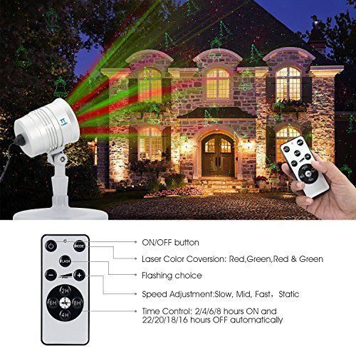 Christmas Laser Lights Projector Auto Timer Outdoor Waterproof Party Color New Tunnkit Laser Lights Projector Colorful Party Laser Lights