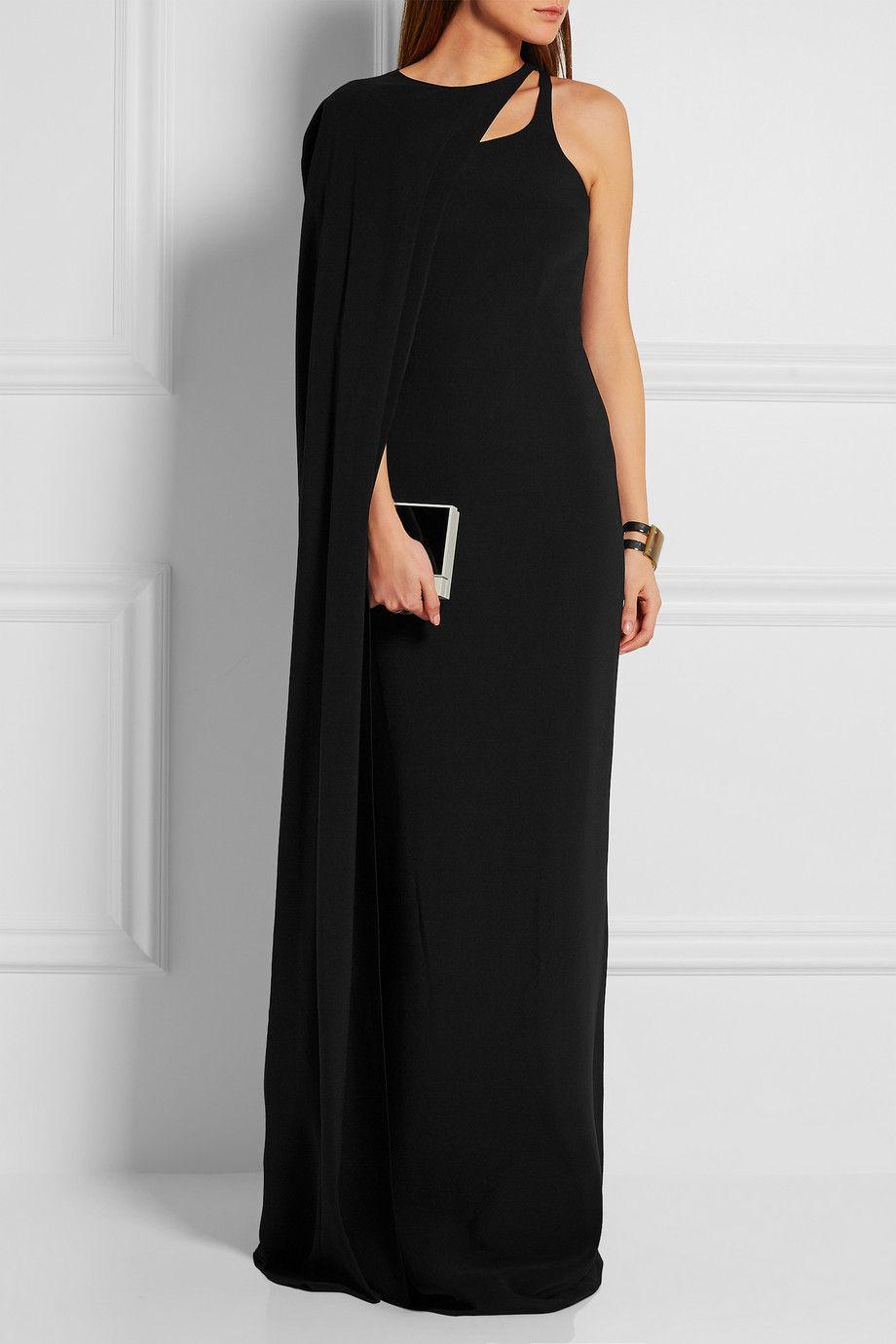 1c5a791361 Stella McCartney - Mirabella cape-effect stretch-crepe gown ...