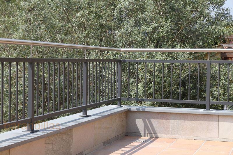 Barandillas exterior hierro h1 01 terrazas barandillas - Barandillas de exterior ...