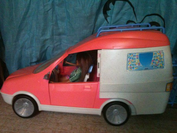 camping car barbie 1990 recherche google barbie transportation pinterest. Black Bedroom Furniture Sets. Home Design Ideas
