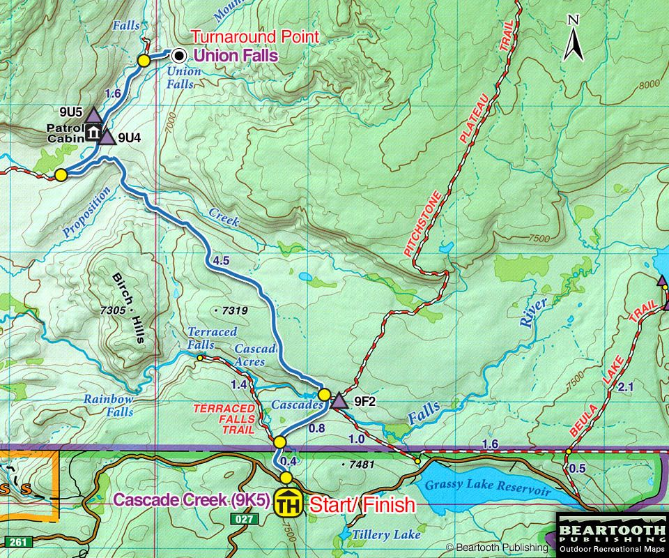Topographic Map Of Yellowstone.Union Falls Topo Map Bucket List Pinterest Yellowstone Hikes