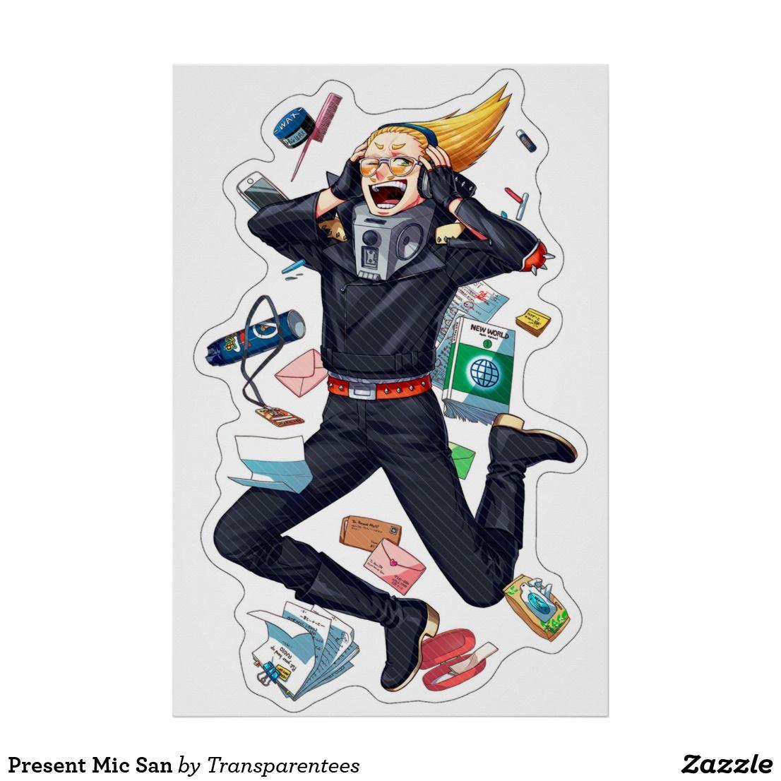 Present Mic San Poster My Hero My Hero Academia Hero