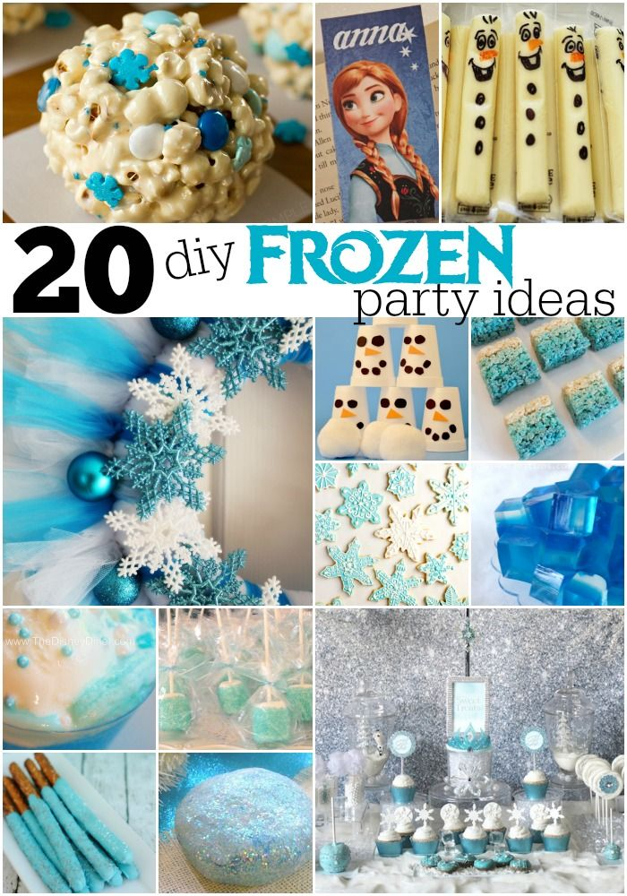20 diy frozen party ideas birthdays winter and frozen party 20 diy frozen party ideas solutioingenieria Images