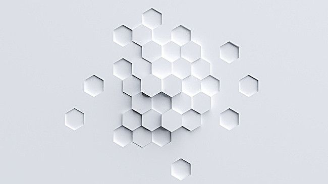 White Background Fresh Hexagon Irregular Relief In 2020