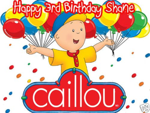 Caillou Personalized Edible Cake Image Icing Topper Caillou