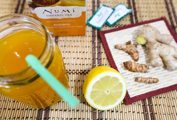 The One Tonic Turmeric Ginger Lemon Rooibos Tea Acv Recipe