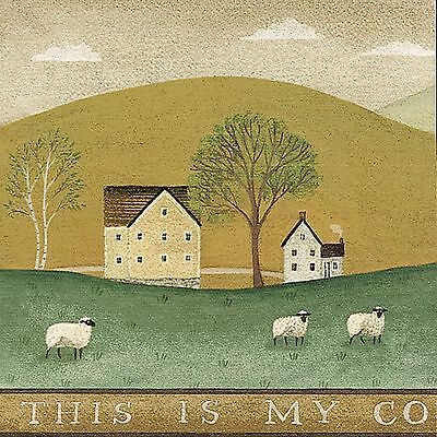 Advertisement American Colonial Farm Wallpaper Border