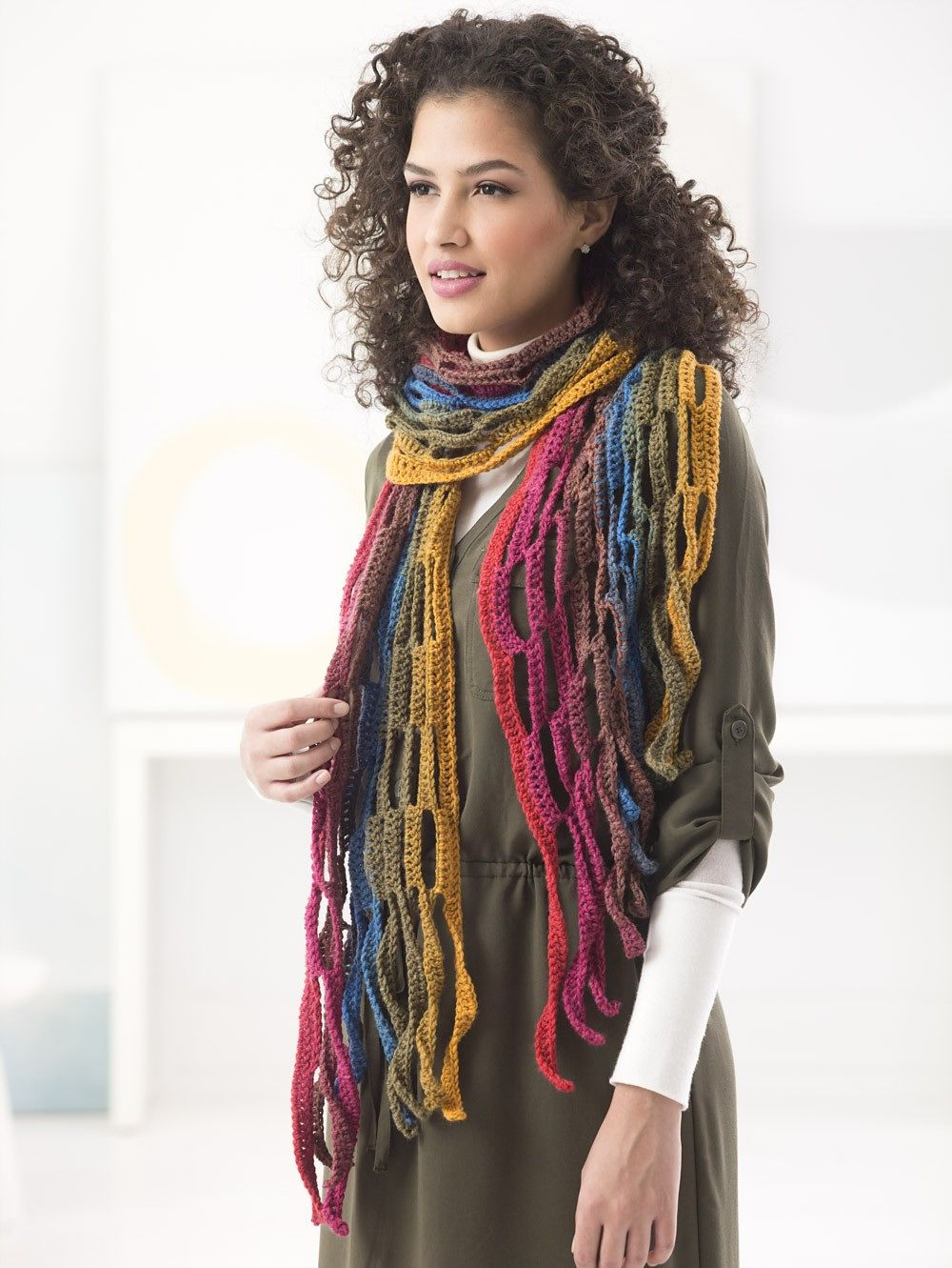 Mesh Scarf By Sarah Zee - Free Crochet Pattern With Website ...