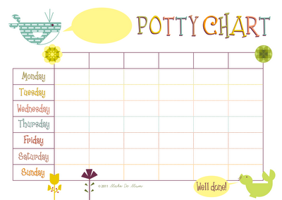 Free Printable Potty Chart Template  Free Reward Chart Templates