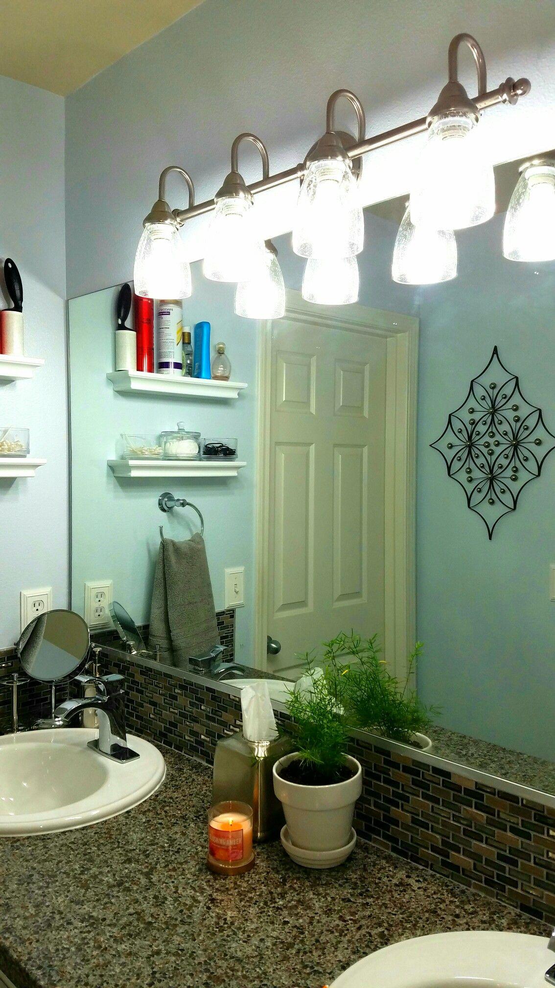 Bathroom wall decor, no light plant, bathroom accessories, white ...